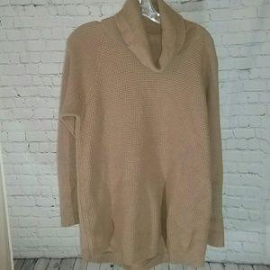 Woolrich Camel Cowl Neck Sweater